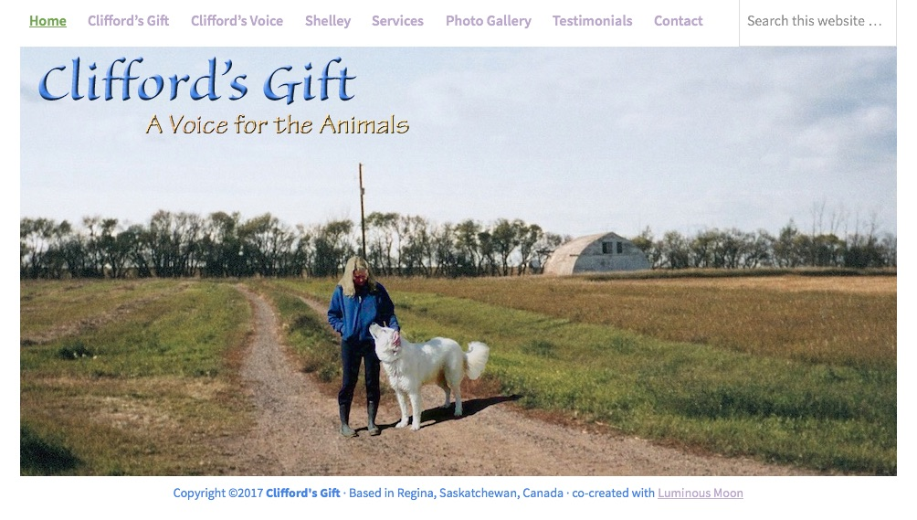 cliffordsgift.com, an amimal communication website.