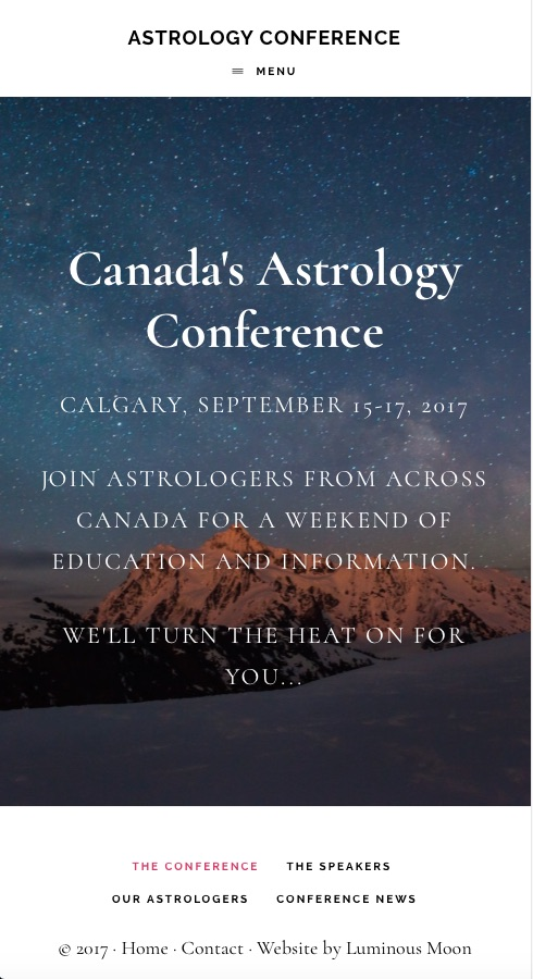 Mobile View of Astrology Conference