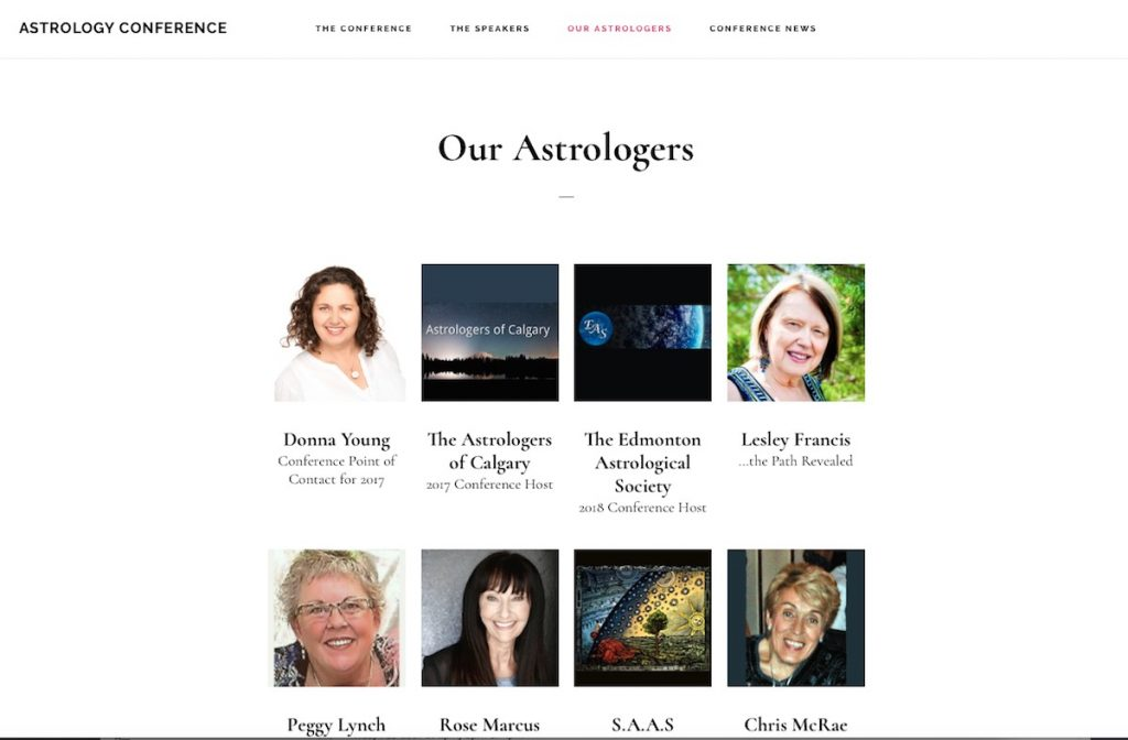 Astrology Conference's Astrologers