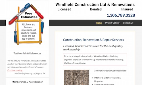 www.windfieldconstruction.com. Construction and Renovations.